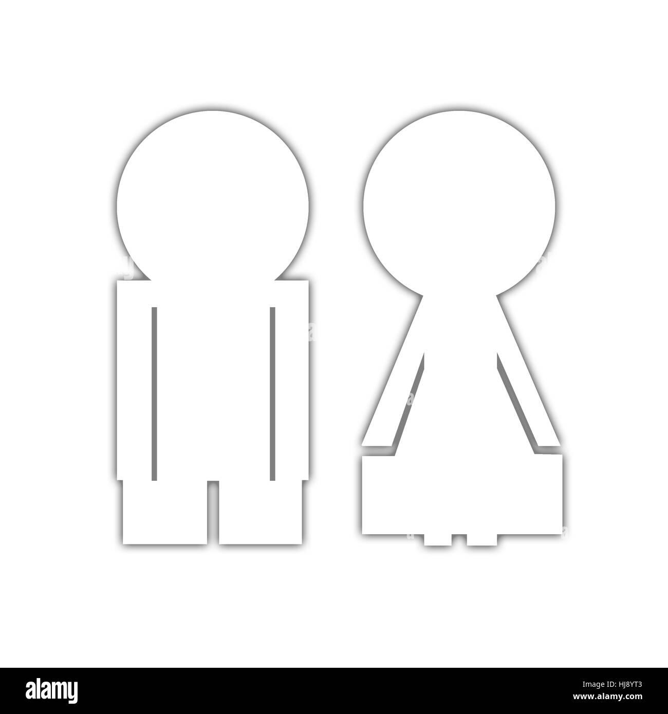 woman, illustration, sanitary, white, pictogram, symbol, pictograph, trade - Stock Image