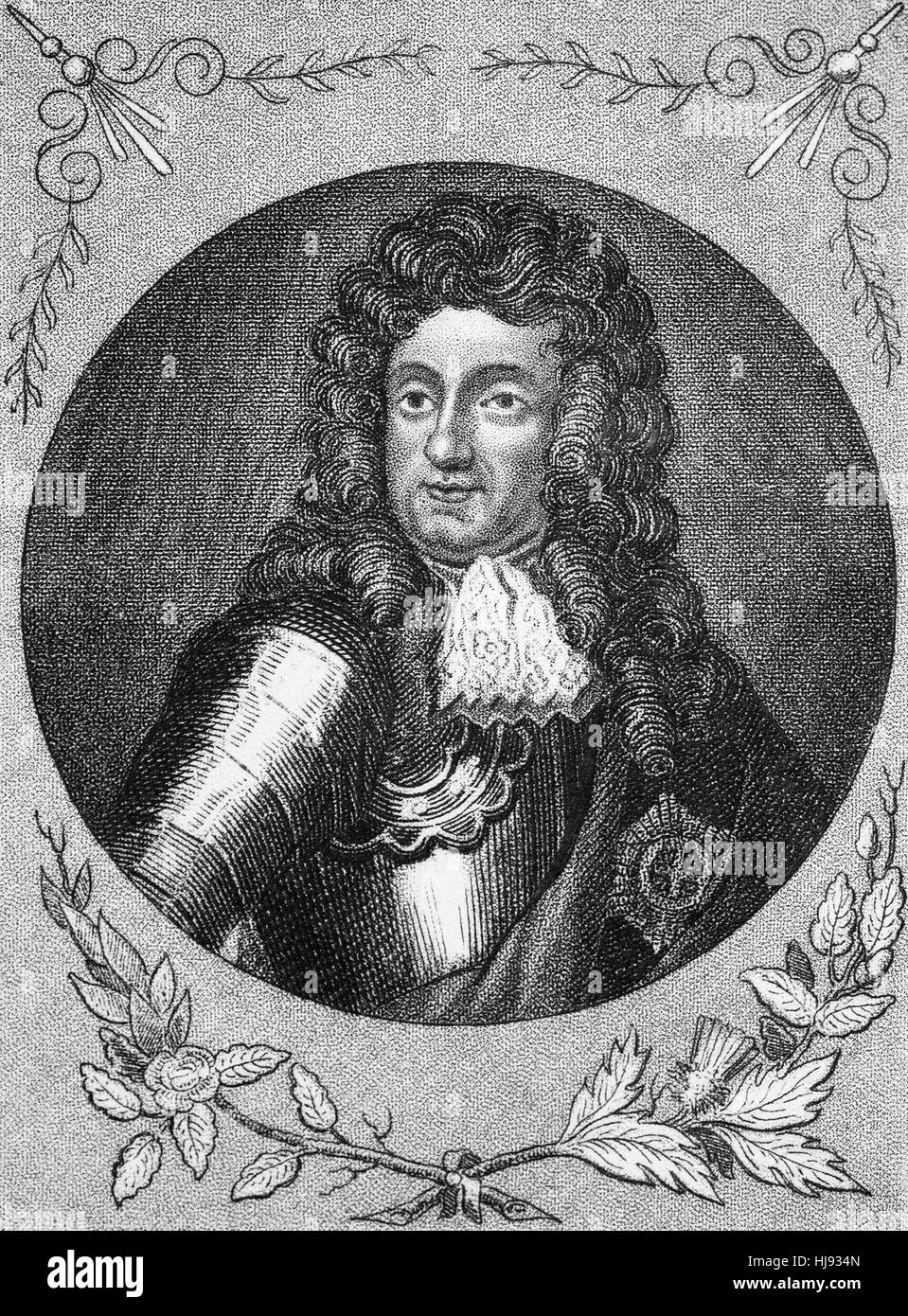 James II and VII (1633 - 1701) was King of England and Ireland as James II and King of Scotland as James VII, from - Stock Image