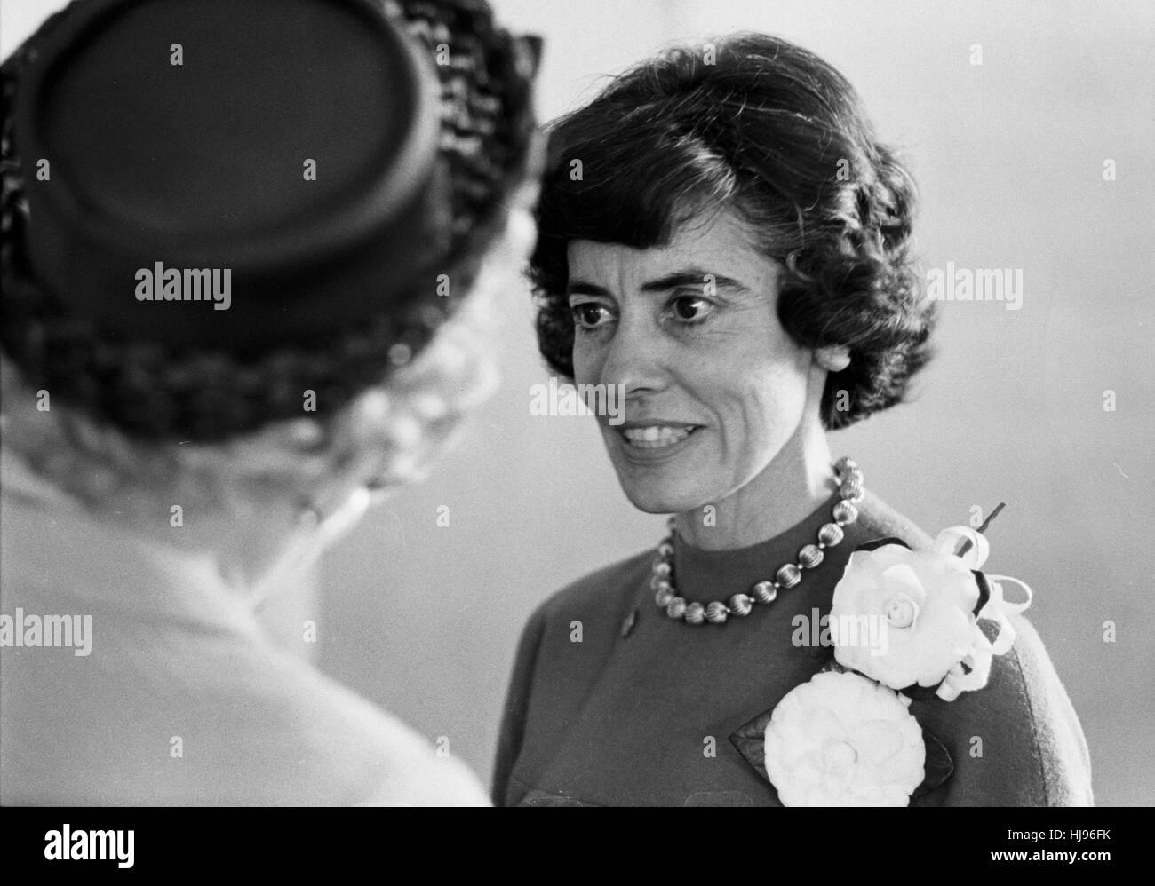 Annie Glenn campaigning for John Glenn in 1964 - Stock Image