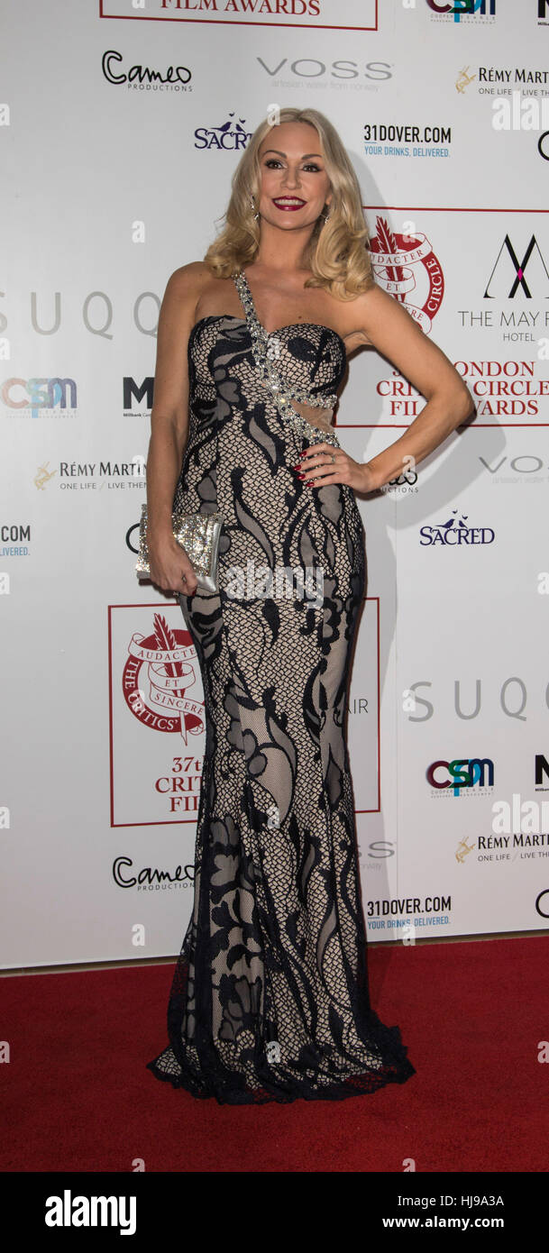 22 January 2017. London, UK. Kristina Rihanoff. Red Carpet arrivals for the 2017 Critic's Circle Film Awards - Stock Image