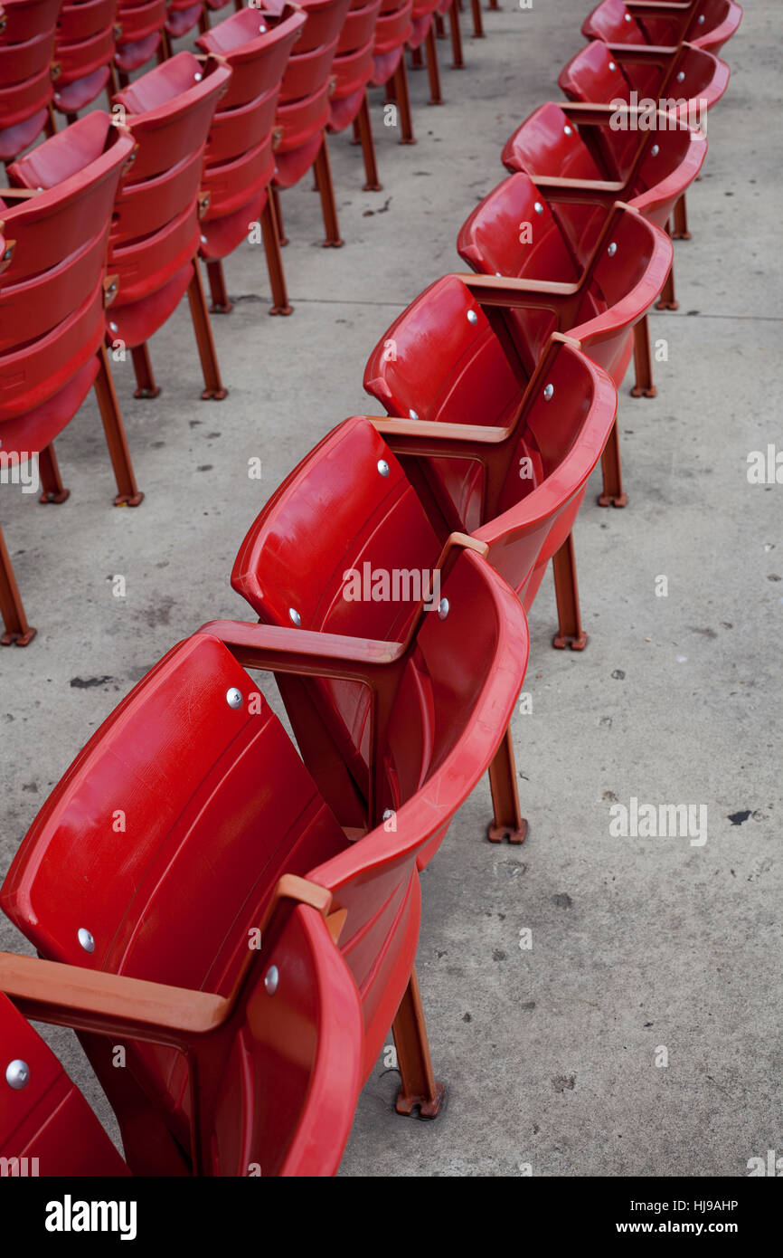 Excellent Rows Of Red Folding Chairs At Open Theatre Stock Photo Caraccident5 Cool Chair Designs And Ideas Caraccident5Info