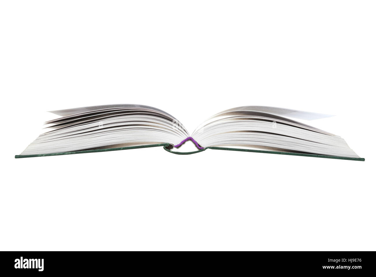 isolated, open, uncap, publication, publish, book, white, write, wrote, - Stock Image