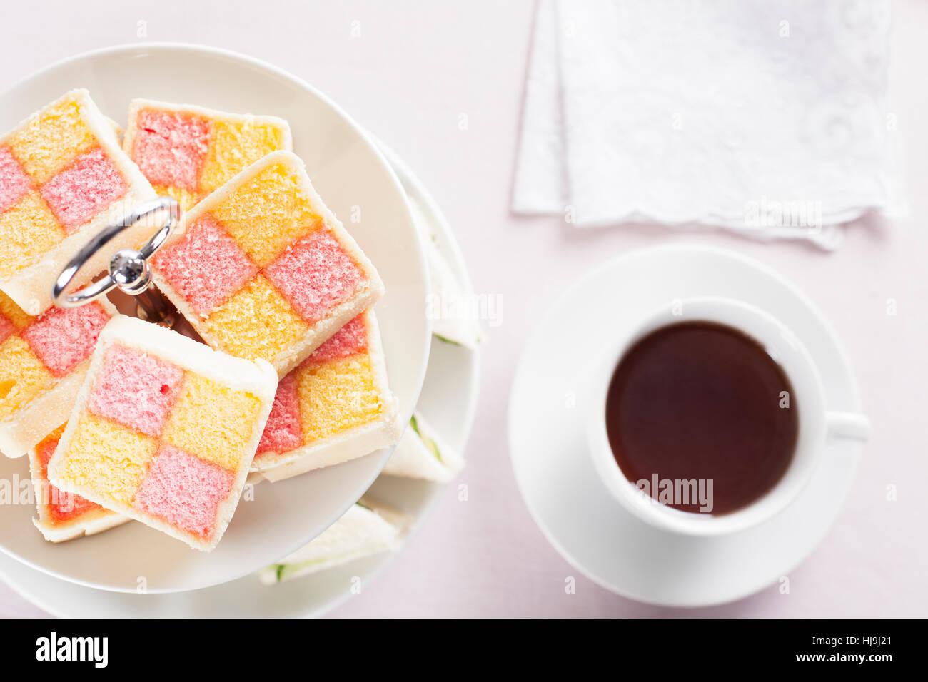 tea, food, aliment, drinks, tea, liquid, sweet, colour, refreshment, hot, cake, - Stock Image