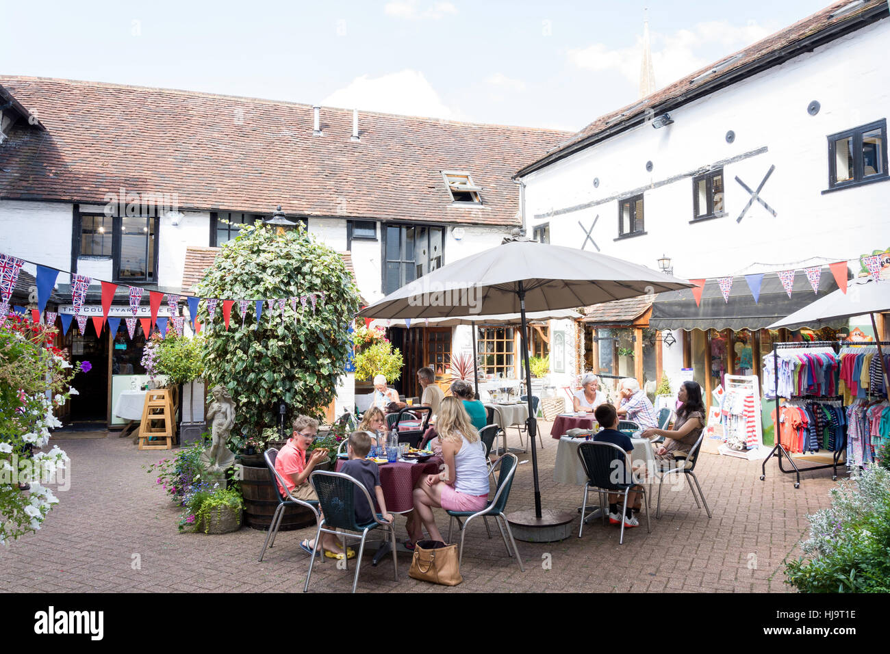 Old Kings Head Court, High Street, Dorking, Surrey, England, United Kingdom - Stock Image