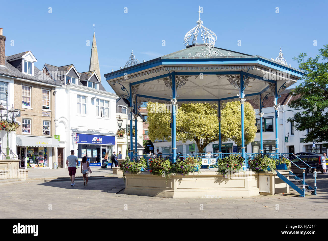 The Bandstand, The Carfax, Horsham, West Sussex, England, United Kingdom - Stock Image