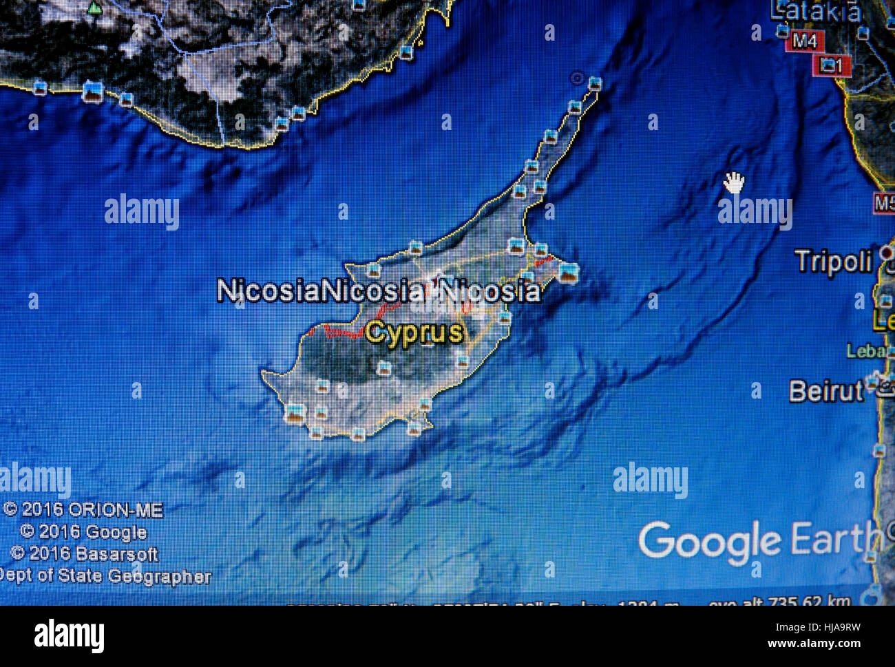 Google earth image of cyprus stock photo 131763629 alamy google earth image of cyprus gumiabroncs Gallery