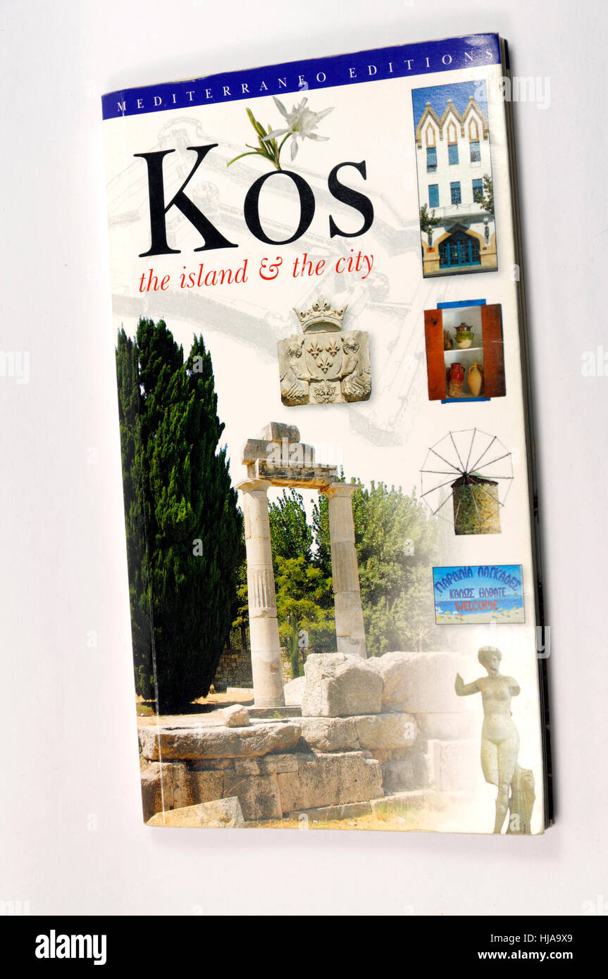 Guidebook to the Greek Island of Kos. - Stock Image