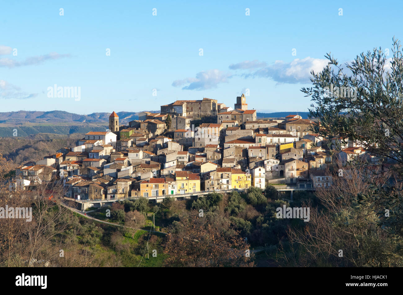 Landscape On The Mountain Village Of San Martino D Agri