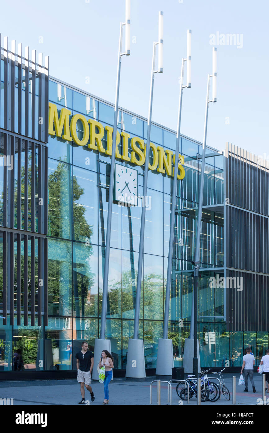 Morrison's Supermarket, Pegler Way, Crawley, West Sussex, England, United Kingdom - Stock Image