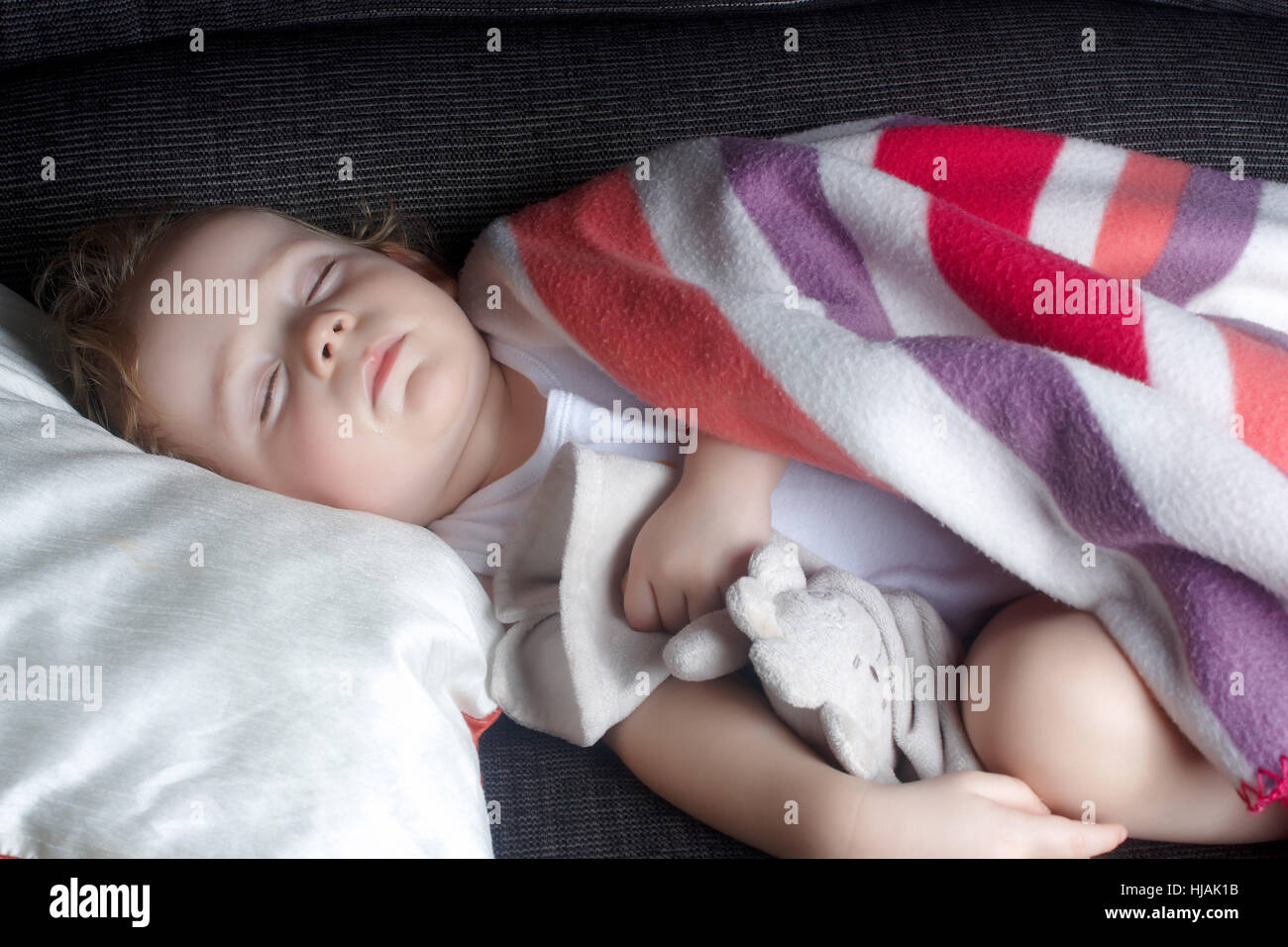 toy, sleep, sleeping, maddening, pert, coquettish, cute, child, humans, human - Stock Image