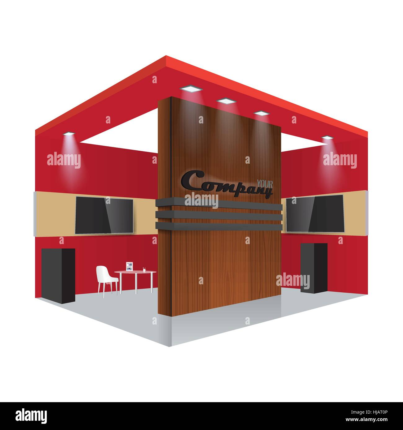 Exhibition Stand Roll Up : Illustrated unique creative wooden exhibition stand display design