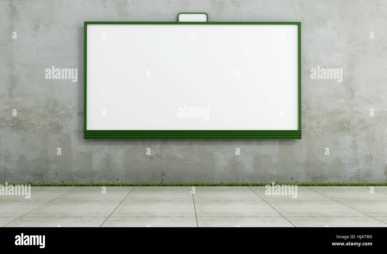 blank, european, caucasian, wall, poster, uninhabited, urban, commercial, - Stock Image