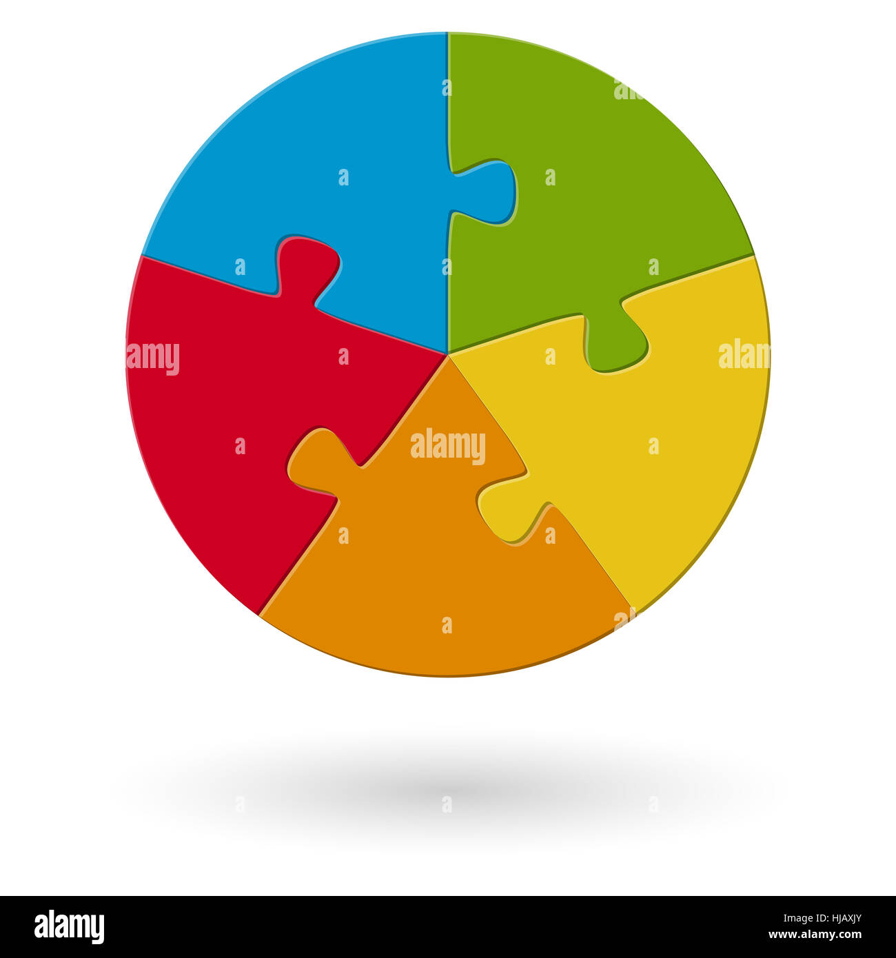 puzzle - approximately - 5 ways - Stock Image
