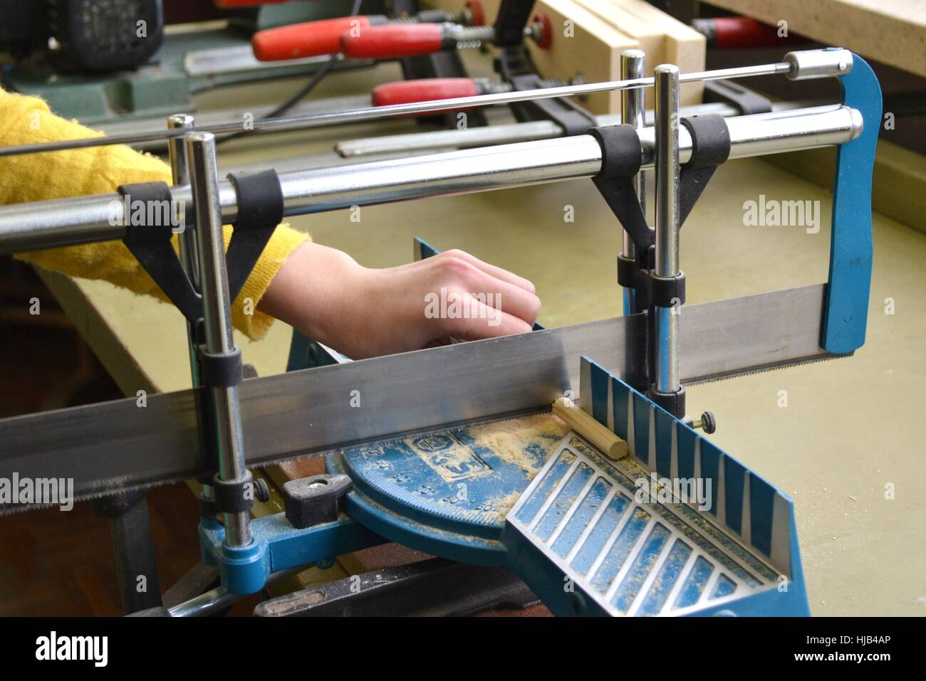 woodworking, joiner, carpenters, miter, business dealings, deal, business Stock Photo