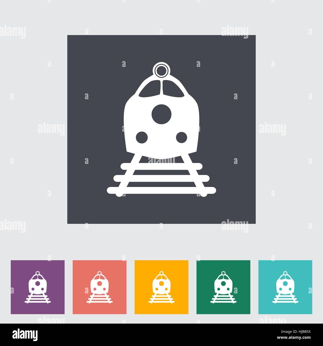 Train flat icon. Vector illustration EPS. - Stock Vector