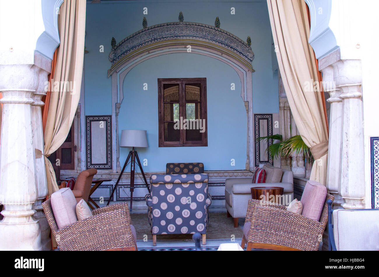 Interior In The Indian Style With Furniture An Interior Indian Stock Photo Alamy