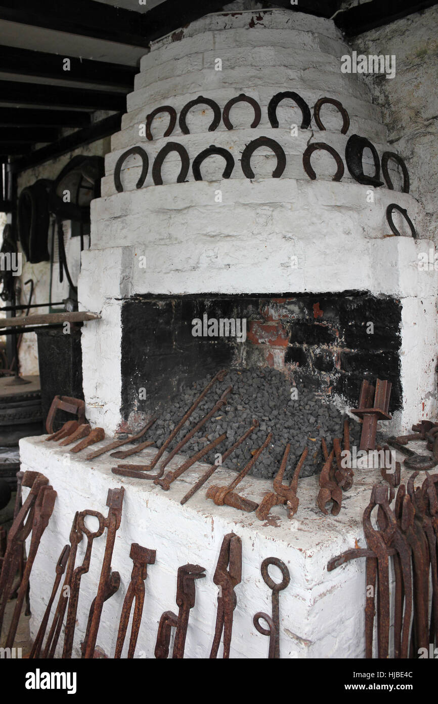 Old Blacksmiths Forge, Eastham C.P. Wirral, UK - Stock Image
