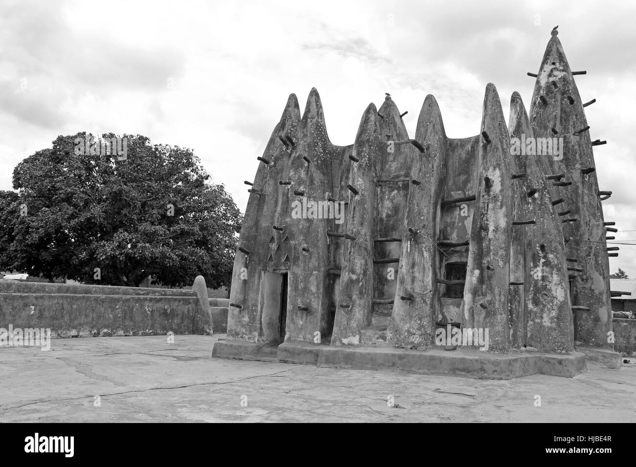Nakore Mosque, Ghana Built With Sudanese Architectural Style Dating From The 16th Century - Stock Image