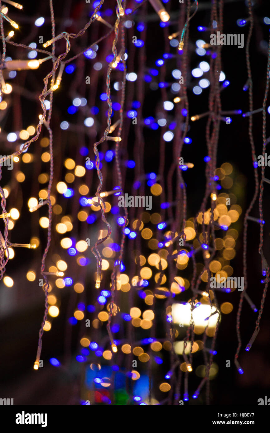 christmas lights and party lights of a certain type stock image