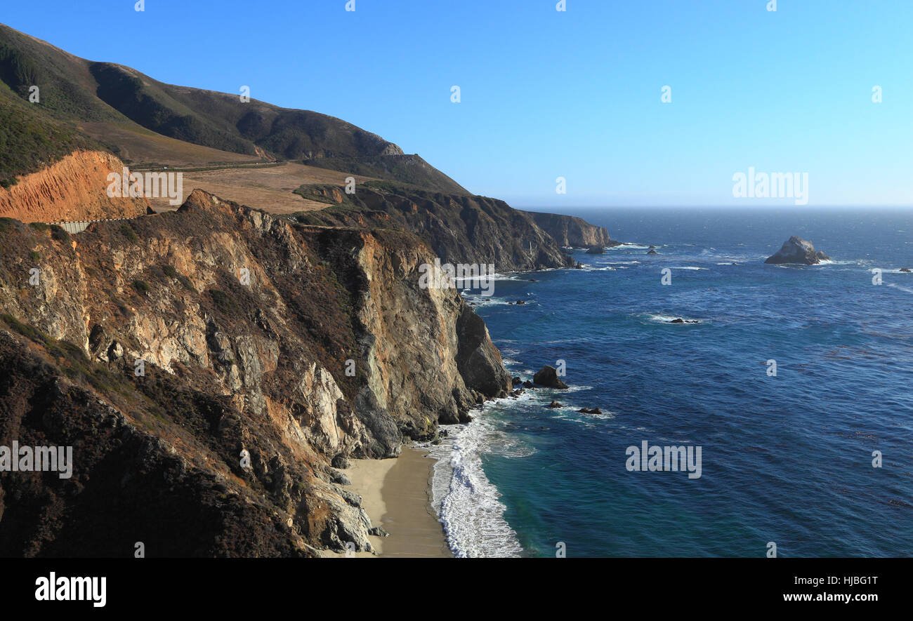 southward view of state route 1 on the big sur coast of california