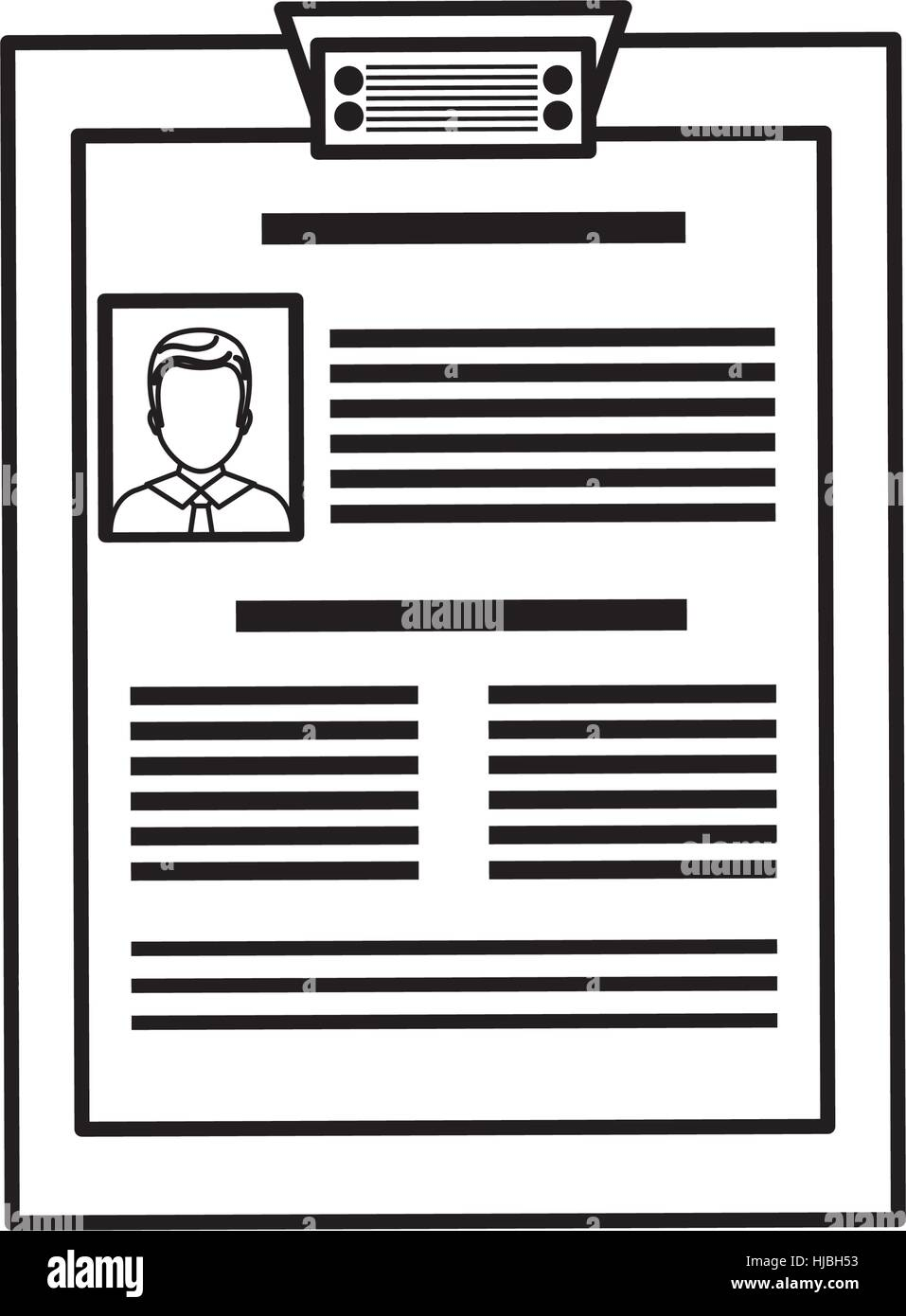 Business Curriculum Vitae Icon Vector Illustration Graphic Design