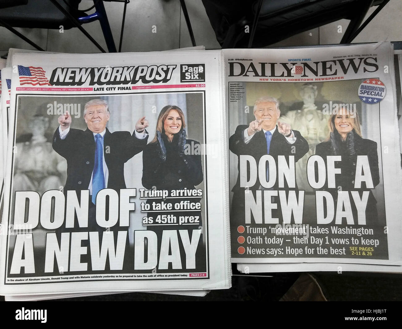 New York tabloid newspapers use similar wire service photographs on ...