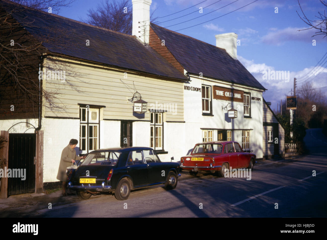 The Old Jail pub, Downe, Kent, 1974 - Stock Image