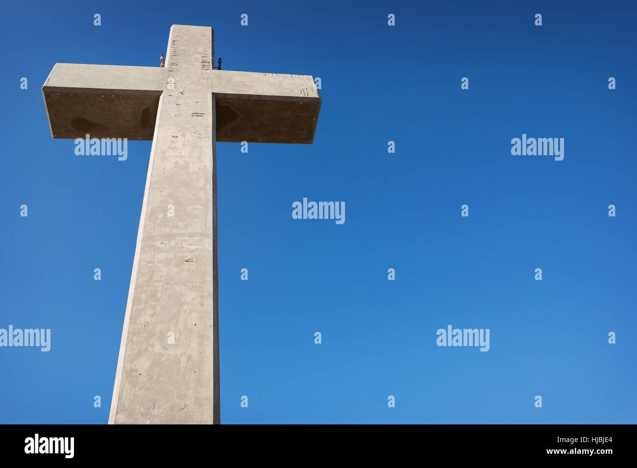 Big Cross at Mount Filerimos on the Island of Rhodes, Greece - Stock Image