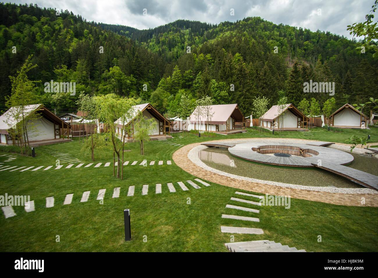 glamping resort - Stock Image
