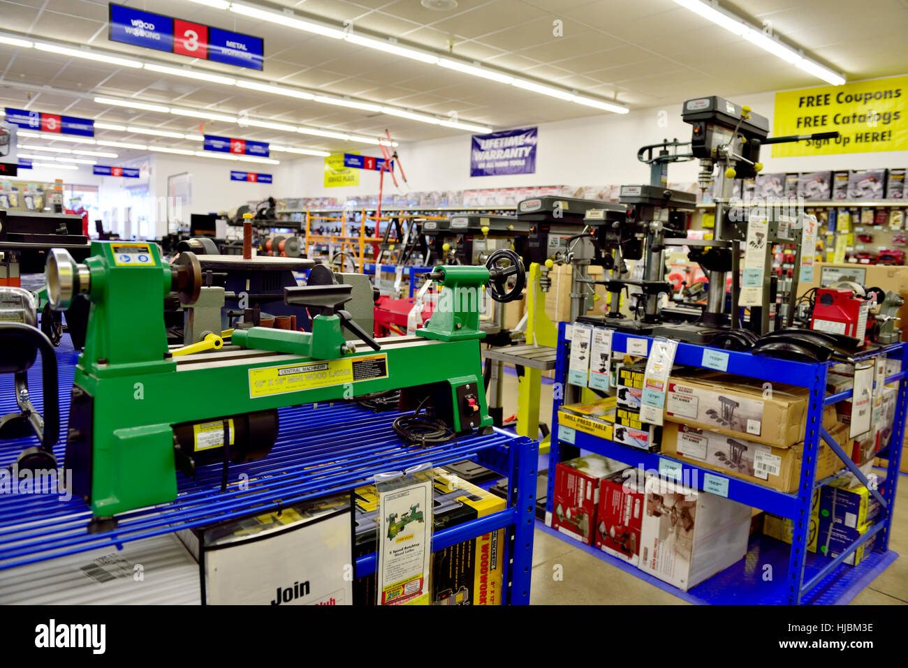 Shop Display Of Tools Machinery Inside Harbor Freight Tools Stock