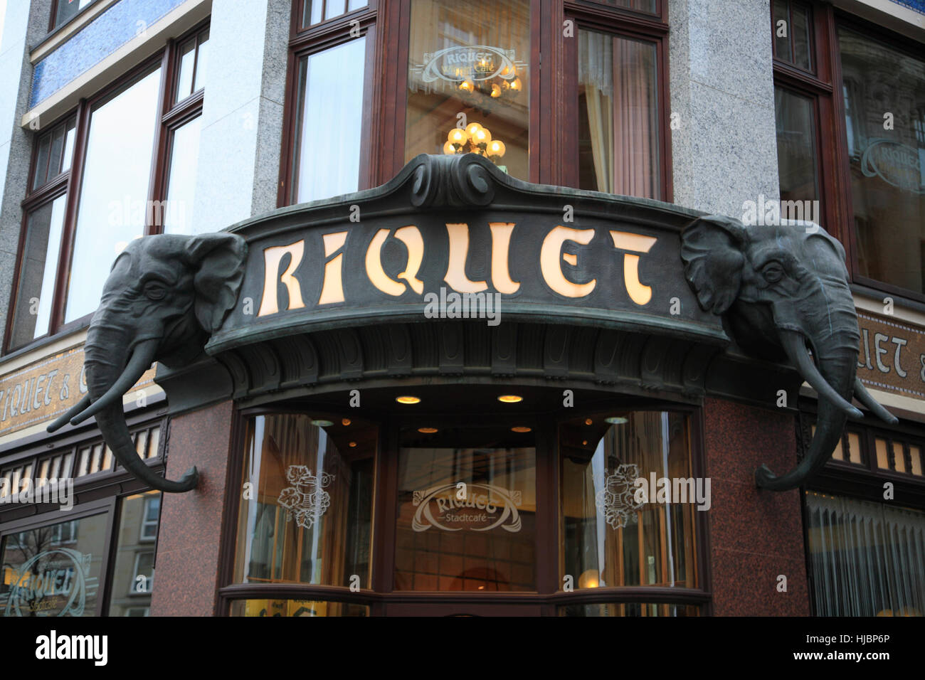 Cafe RIQUET, Leipzig, Saxony, Germany, Europe - Stock Image