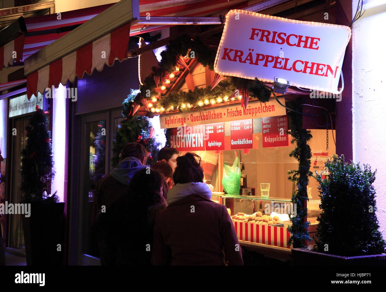 Stand mit Schmalzgebaeck, Saxony, Germany, Europe Stock Photo