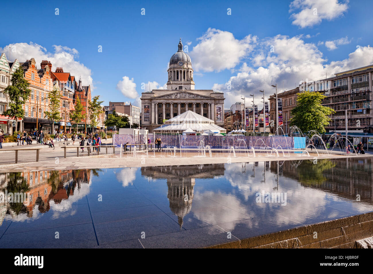 Market Square, Nottingham, England, UK - Stock Image