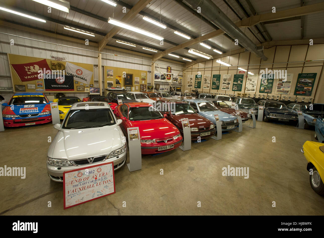 Classic cars of the Vauxhall Heritage collection kept at the car ...