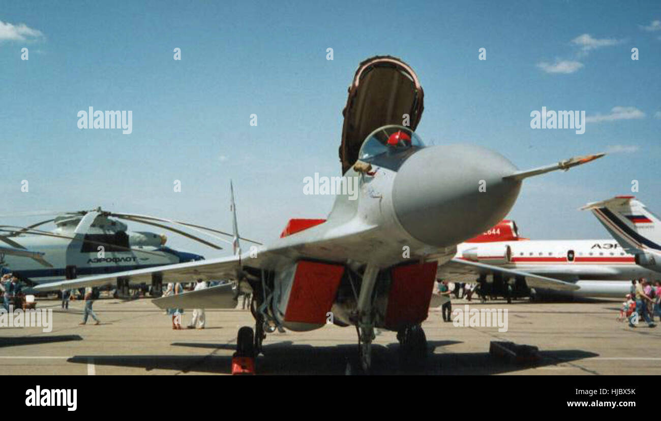 Soviet Air Force Mig-29 Fulcrum - Stock Image