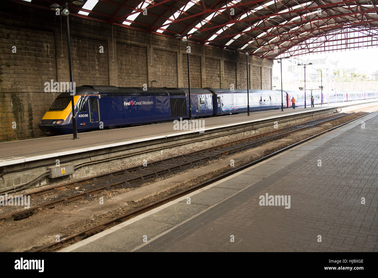 Penzance rail stock photos penzance rail stock images alamy Taunton swimming pool station road