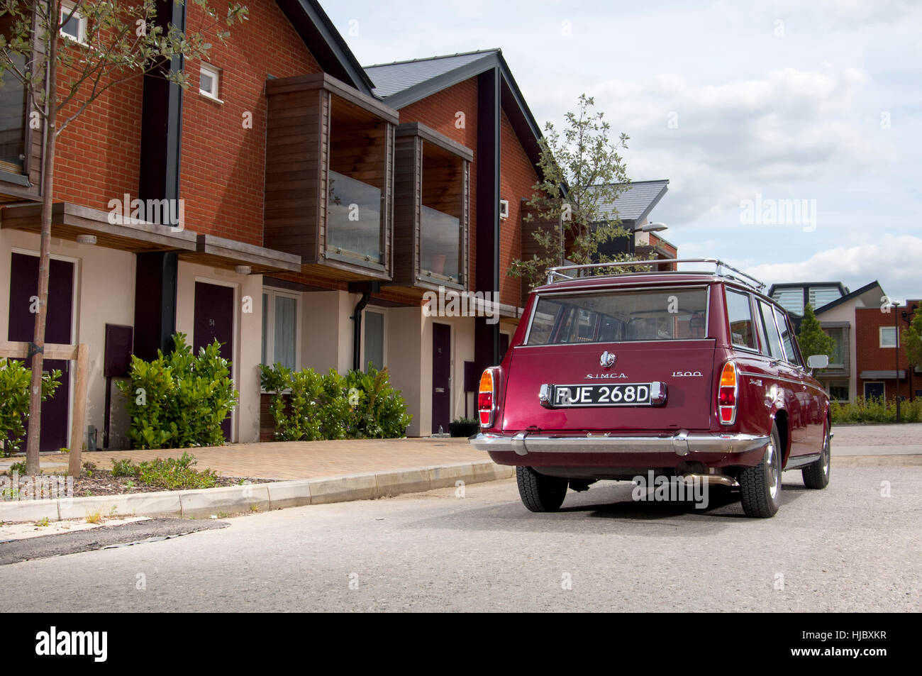1966 Simca 1500 classic French estate car - Stock Image