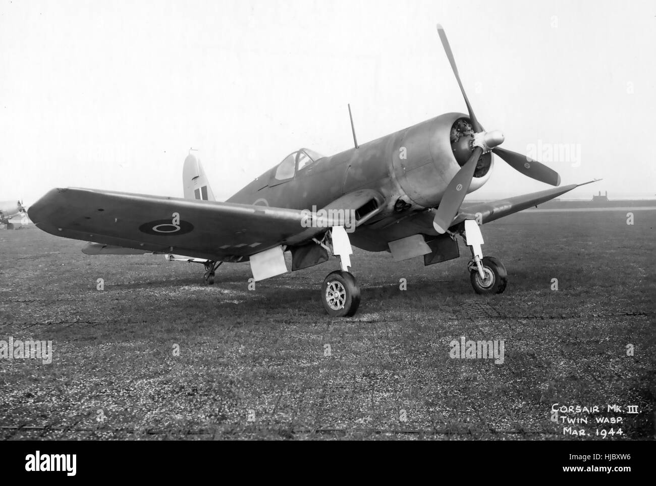 VOUGHT F4U CORSAIR Mk III in March 1944. Air Ministry photo. - Stock Image