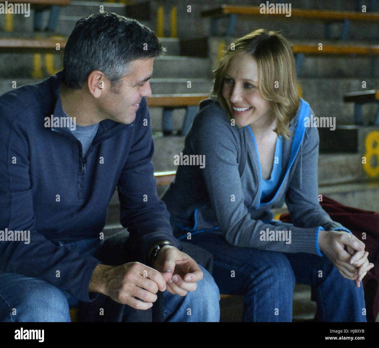 UP IN THE AIR 2009 Paramount Pictures film with George Clooney and Vera Farmiga - Stock Image