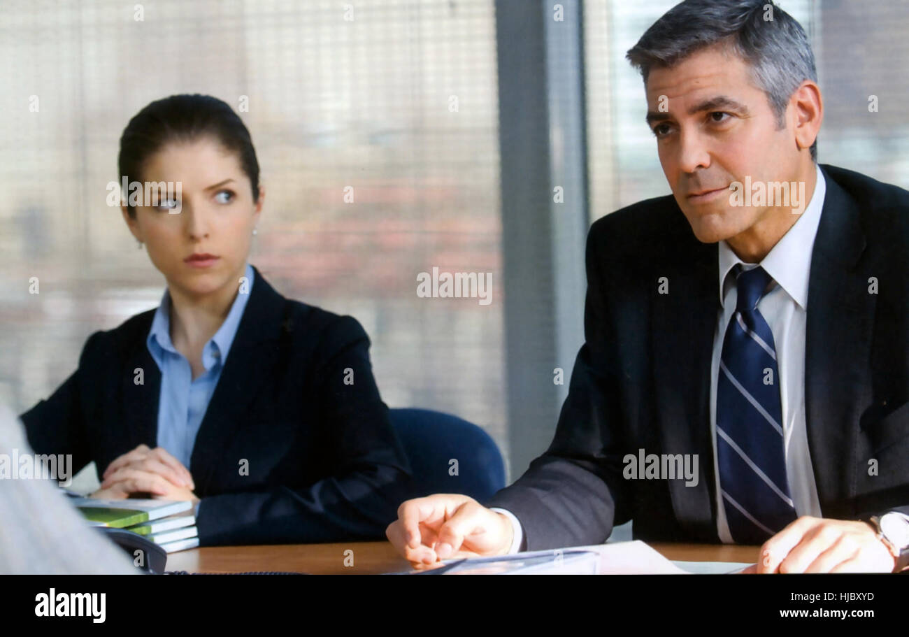 UP IN THE AIR 2009 Paramount Pictures film with George Clooney and Anna Kendrick - Stock Image