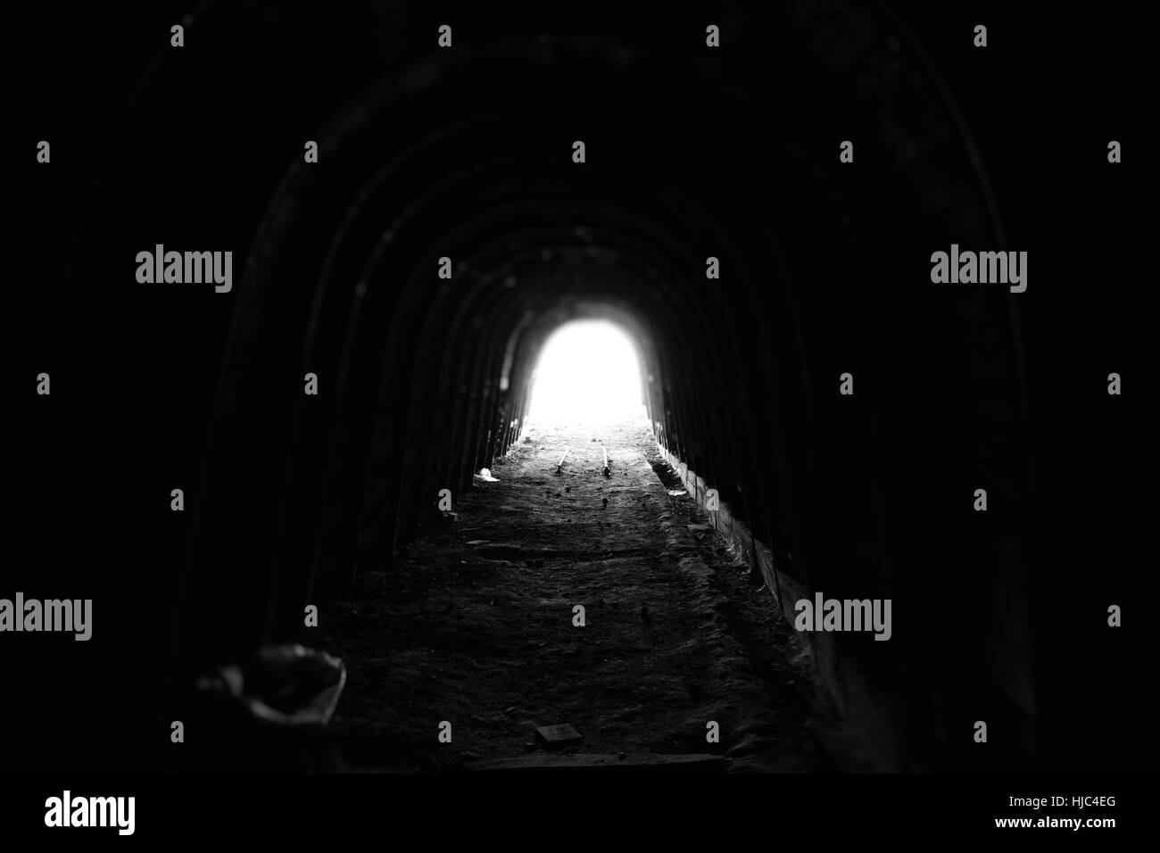 Light at the end of the tunnel! - Stock Image