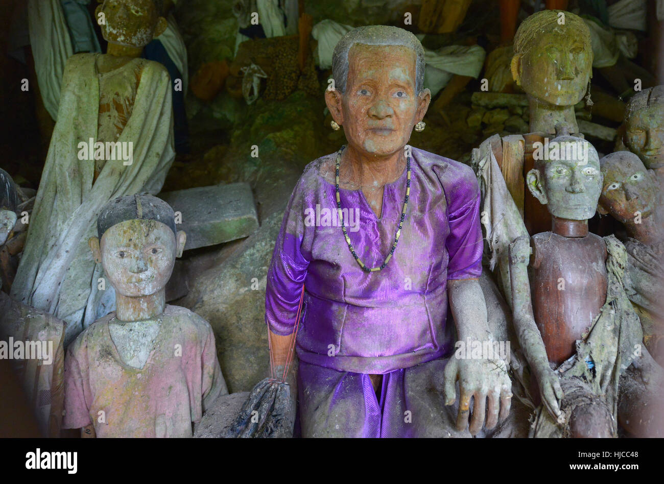 Tana Toraja Cemetery in Kete Kesu, Sulawesi, Indonesia - Stock Image