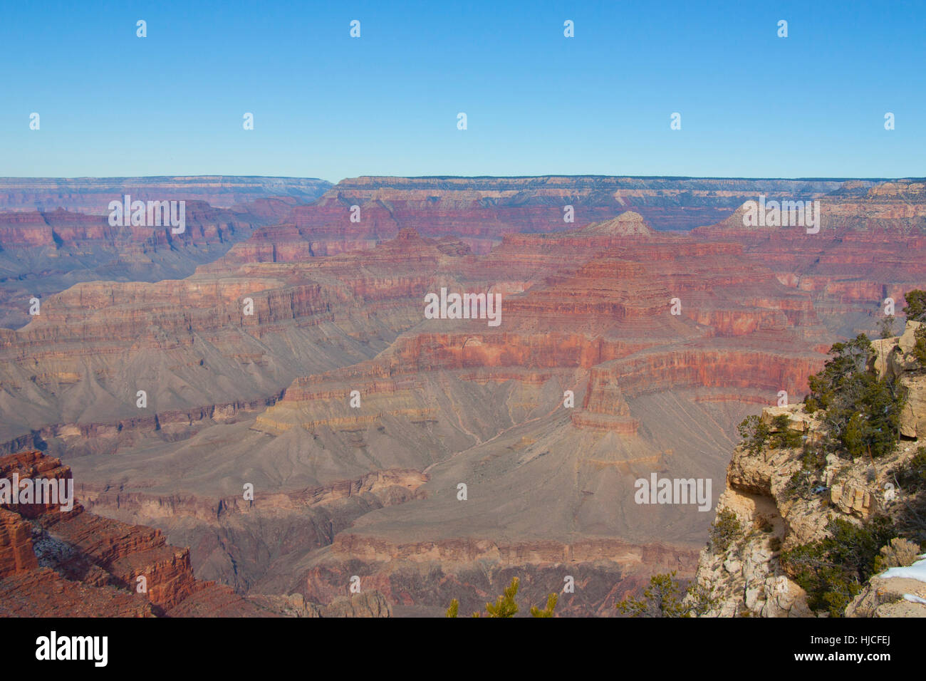 South Rim, Grand Canyon National Park, UNESCO World Heritage Site, Arizona, USA - Stock Image