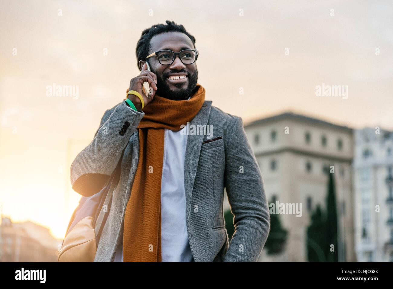Businessman in the Street. Business Concept - Stock Image