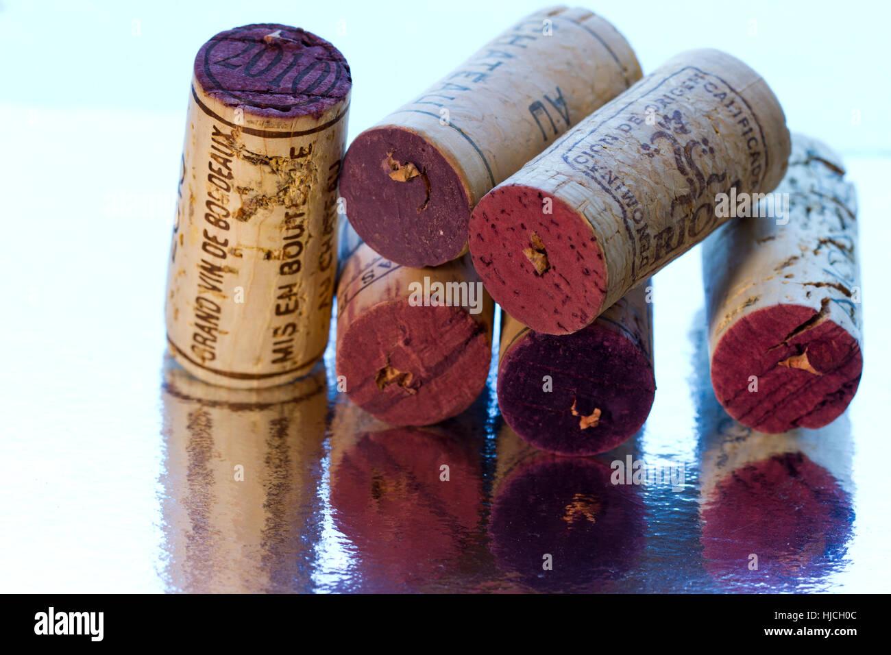 remembering wine-tastes - Stock Image