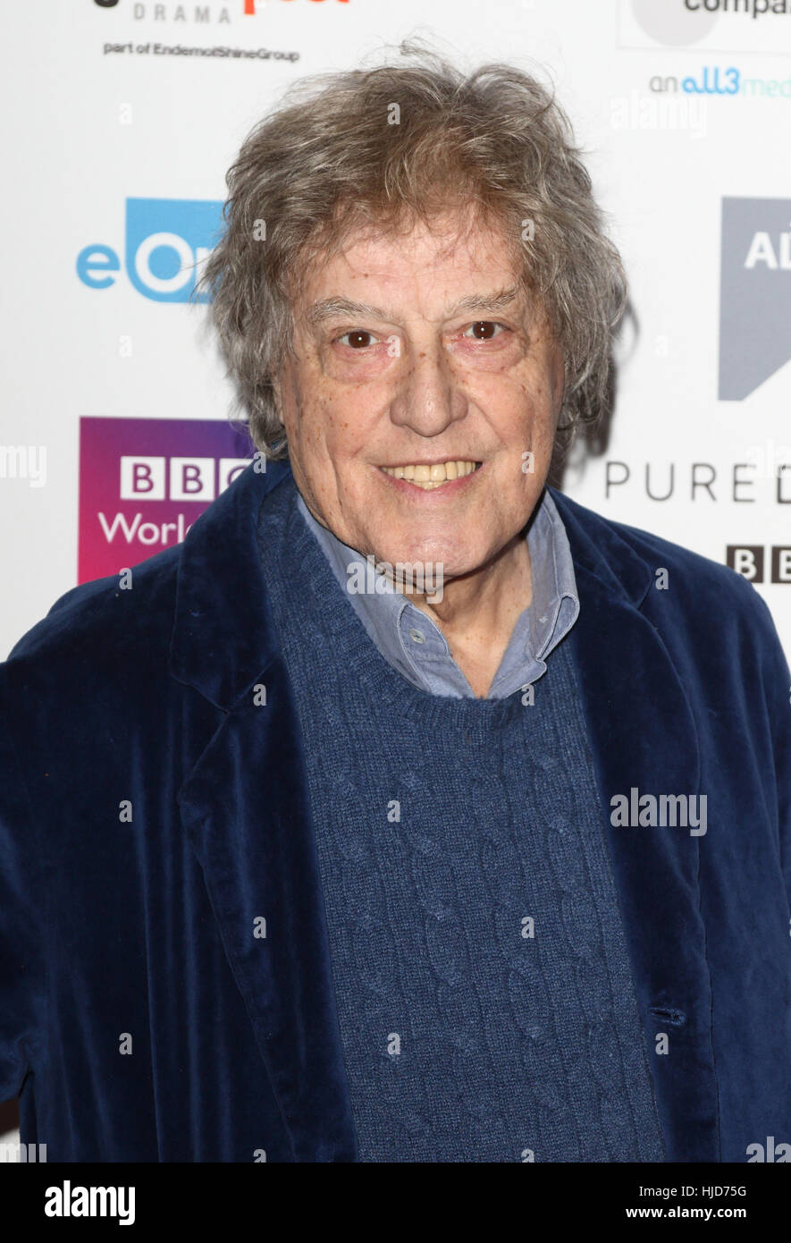 London, UK. 23rd January, 2017. Sir Tom Stoppard at the Writers Guild Awards 2017 at The Royal College of Physicians, - Stock Image