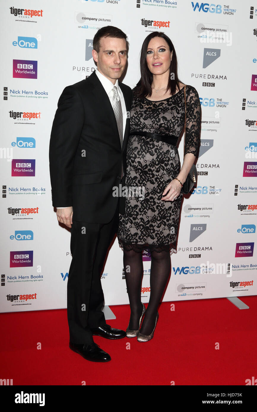 London, UK. 23rd January, 2017. Will Stoppard and Linzi Stoppard at the Writers Guild Awards 2017 at The Royal College - Stock Image