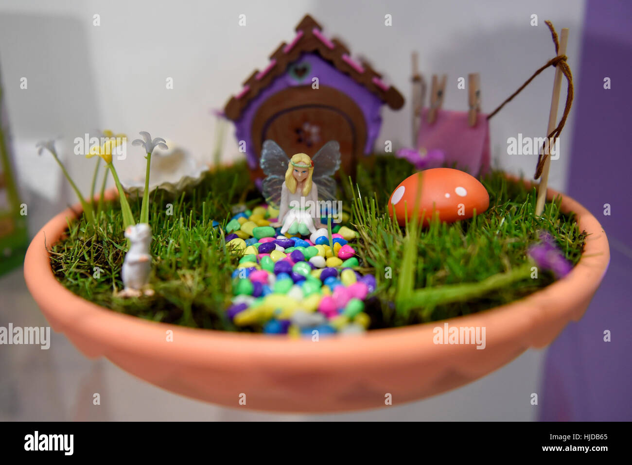 Fairy Garden Flower Pots London uk 24th jan 2017 a flower pot fairy garden from my a flower pot fairy garden from my little fairy garden on display at the opening day of the toy fair 2017 taking place at kensington olympia workwithnaturefo