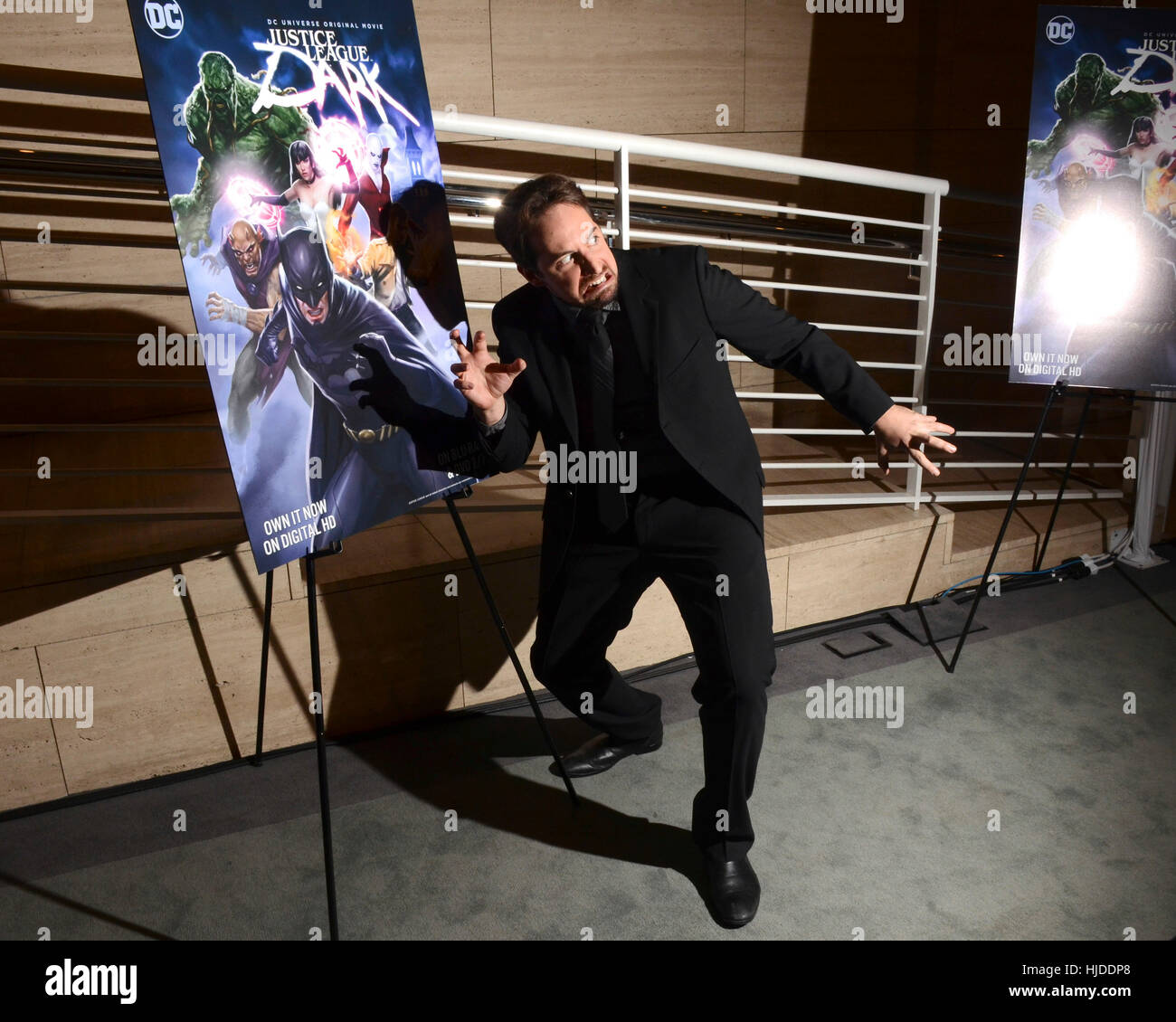 Los Angeles, USA. 23rd Jan, 2017. Ray Chase attends premiere of Warner Home Movies' 'Justice League Dark' - Stock Image