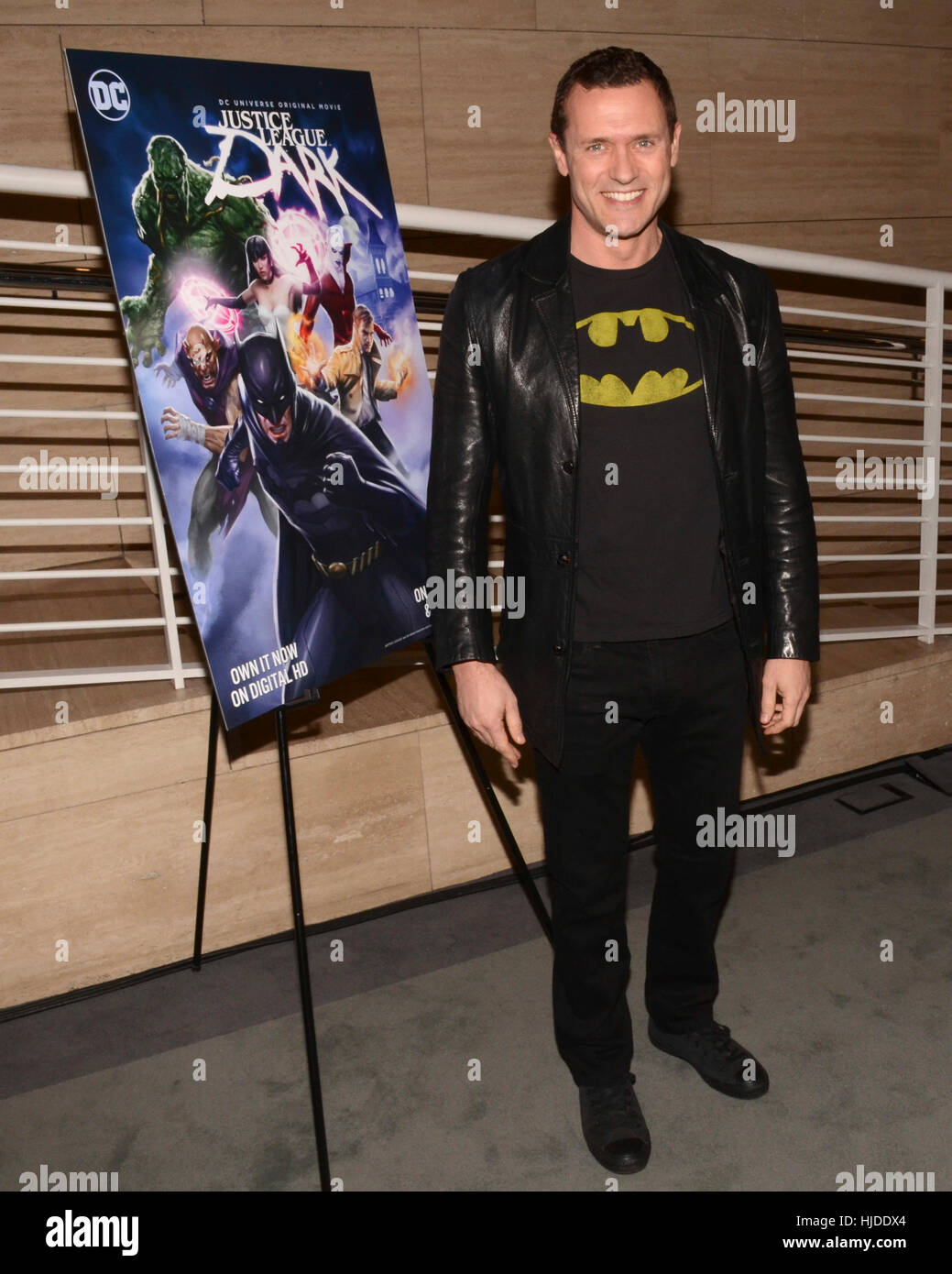 Los Angeles, USA. 23rd Jan, 2017. Jason O'Mara attends premiere of Warner Home Movies' 'Justice League - Stock Image